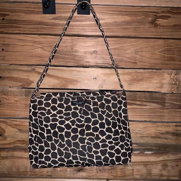 kate spade Handbags - Vintage Kate Spade Giraffe Print Handbag Purse